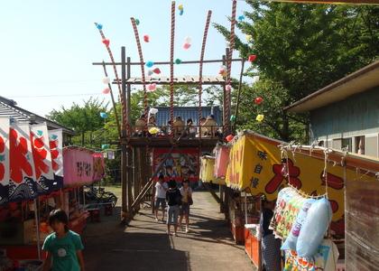 神明神社祭りの日