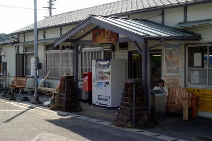 久留里駅とベンチ